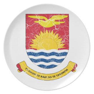 Kiribati Coat Of Arms Dinner Plate