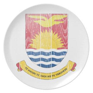 Kiribati Coat Of Arms Party Plates