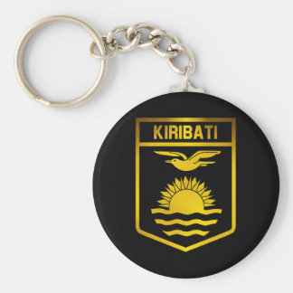 Kiribati Emblem Basic Round Button Keychain