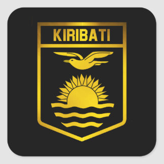 Kiribati Emblem Square Sticker