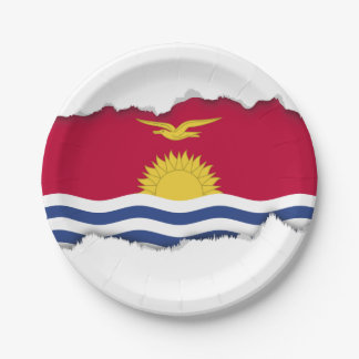 Kiribati Flag 7 Inch Paper Plate