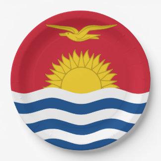 Kiribati Flag 9 Inch Paper Plate