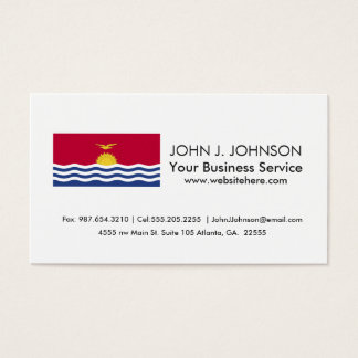 Kiribati Flag Business Card