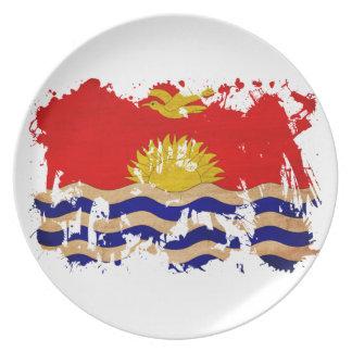 Kiribati Flag Dinner Plate