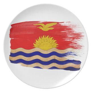 Kiribati Flag Dinner Plates