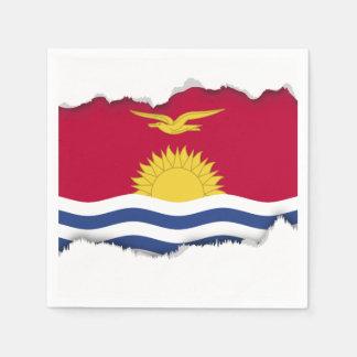 Kiribati Flag Disposable Napkins