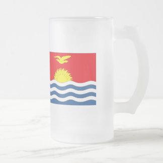 Kiribati Flag Frosted Glass Beer Mug