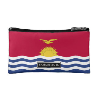 Kiribati Flag Makeup Bag