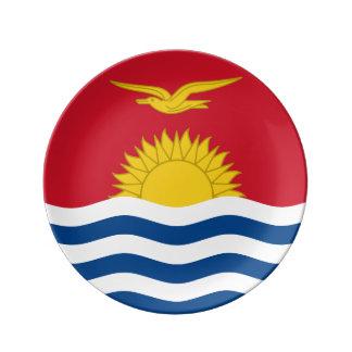 Kiribati Flag Porcelain Plate