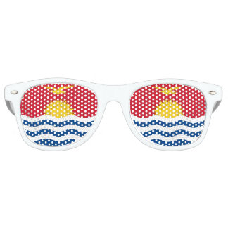 Kiribati Flag Retro Sunglasses