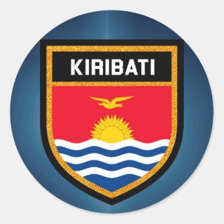 Kiribati Flag Round Sticker