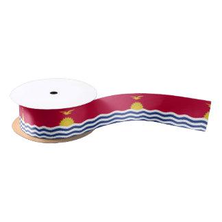 Kiribati Flag Satin Ribbon