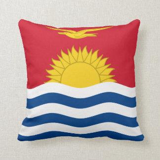 Kiribati Flag Throw Pillow