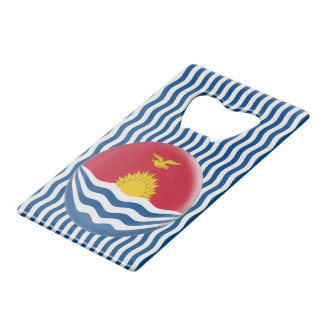 Kiribati Flag Wallet Bottle Opener