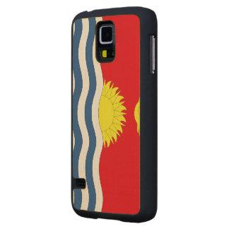 Kiribati Flag Carved® Maple Galaxy S5 Slim Case