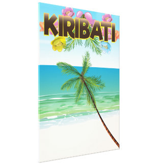 Kiribati Island travel poster Canvas Print