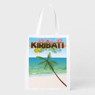 Kiribati Island travel poster Reusable Grocery Bag