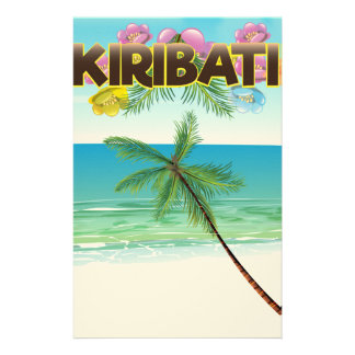Kiribati Island travel poster Stationery