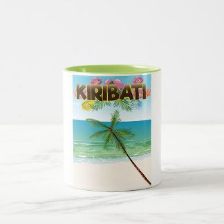 Kiribati Island travel poster Two-Tone Coffee Mug