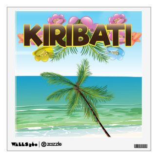 Kiribati Island travel poster Wall Decal