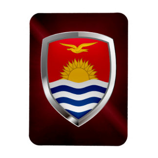 Kiribati Metallic Emblem Magnet