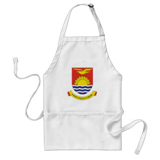 Kiribati Official Coat Of Arms Heraldry Symbol Standard Apron