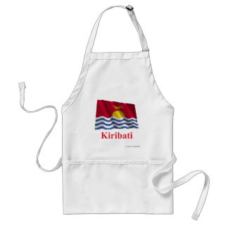 Kiribati Waving Flag with Name Standard Apron