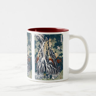 Kirifuri Falls at Mount Kurokami in Shimotsuke Two-Tone Coffee Mug