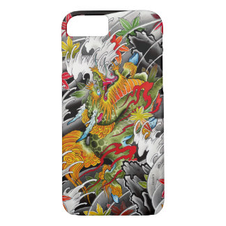Kirin Japanese tattoo art watercolor painting iPhone 8/7 Case