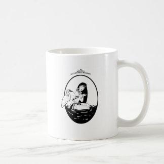 kiriri black and white coffee mug