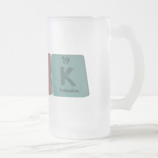 Kirk as Potassium Iridium Potassium Frosted Glass Beer Mug