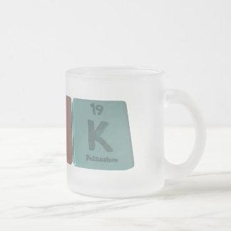 Kirk as Potassium Iridium Potassium Frosted Glass Coffee Mug
