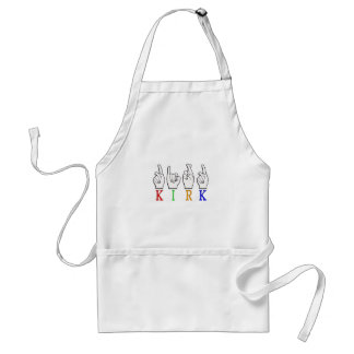 KIRK ASL FINGERSPELLED NAME SIGN DEAF STANDARD APRON