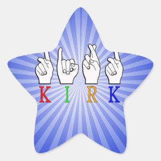 KIRK ASL FINGERSPELLED NAME SIGN DEAF STAR STICKER