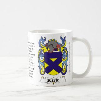 Kirk Family Coat of Arms mug
