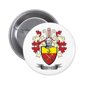 Kirk Family Crest Coat of Arms 2 Inch Round Button