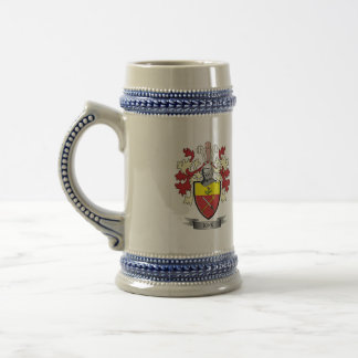 Kirk Family Crest Coat of Arms Beer Stein