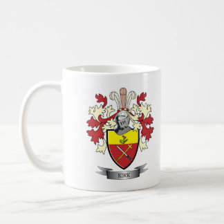 Kirk Family Crest Coat of Arms Coffee Mug