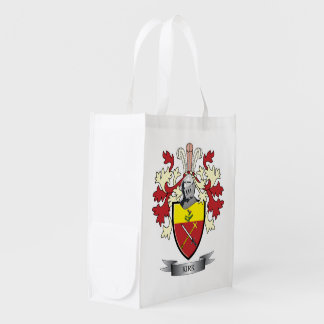 Kirk Family Crest Coat of Arms Reusable Grocery Bag