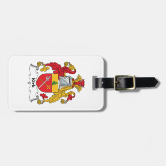 Kirk Family Crest Luggage Tag