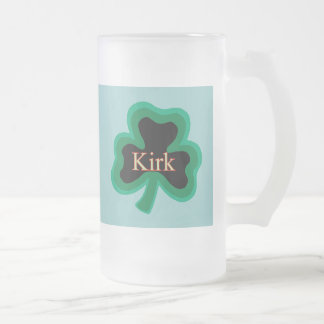 Kirk Family Frosted Glass Beer Mug
