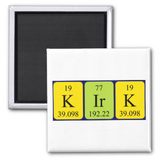 Kirk periodic table name magnet