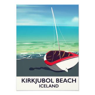 Kirkjubol Beach Iceland vacation poster