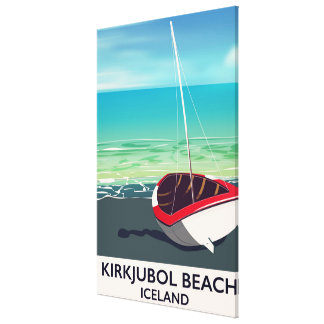 Kirkjubol Beach Iceland vacation poster Canvas Print