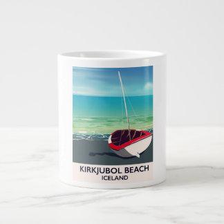 Kirkjubol Beach Iceland vacation poster Large Coffee Mug