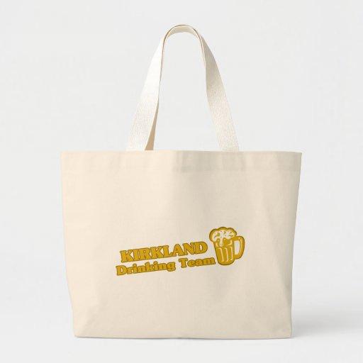 Kirkland Drinking Team tee shirts Canvas Bags