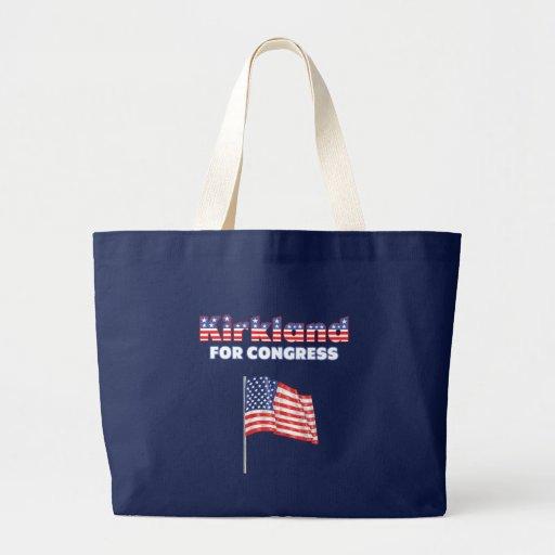 Kirkland for Congress Patriotic American Flag Desi Canvas Bag