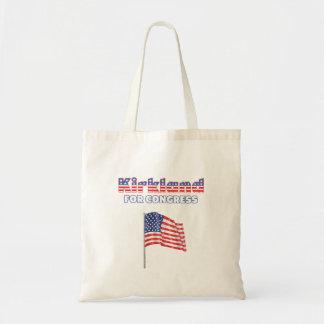 Kirkland for Congress Patriotic American Flag Desi Budget Tote Bag