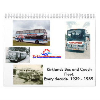 Kirklands Bus and Coach Fleet Wall Calendar