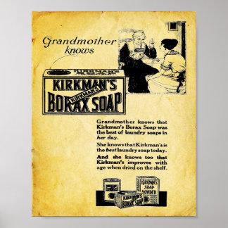 Kirkmans Borax Soap - Vintage Laundry Soap Print
